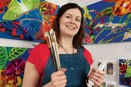 Artist Thrives in Open Studio