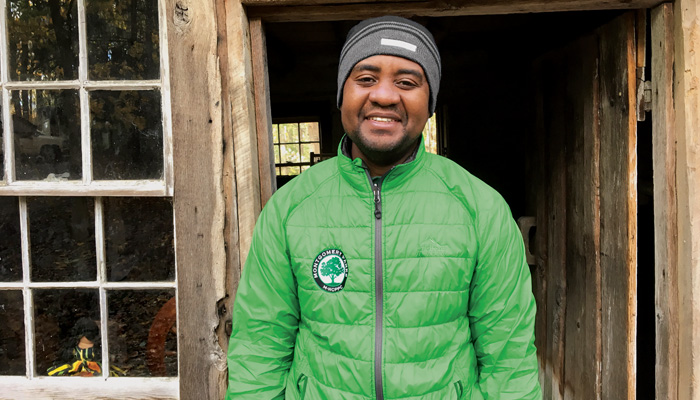 Quame DeJonge joined the Montgomery County Parks staff as an interpreter and naturalist aide after four years of volunteer service on weekends. He is currently an environmental science and policy major at the Rockville Campus.