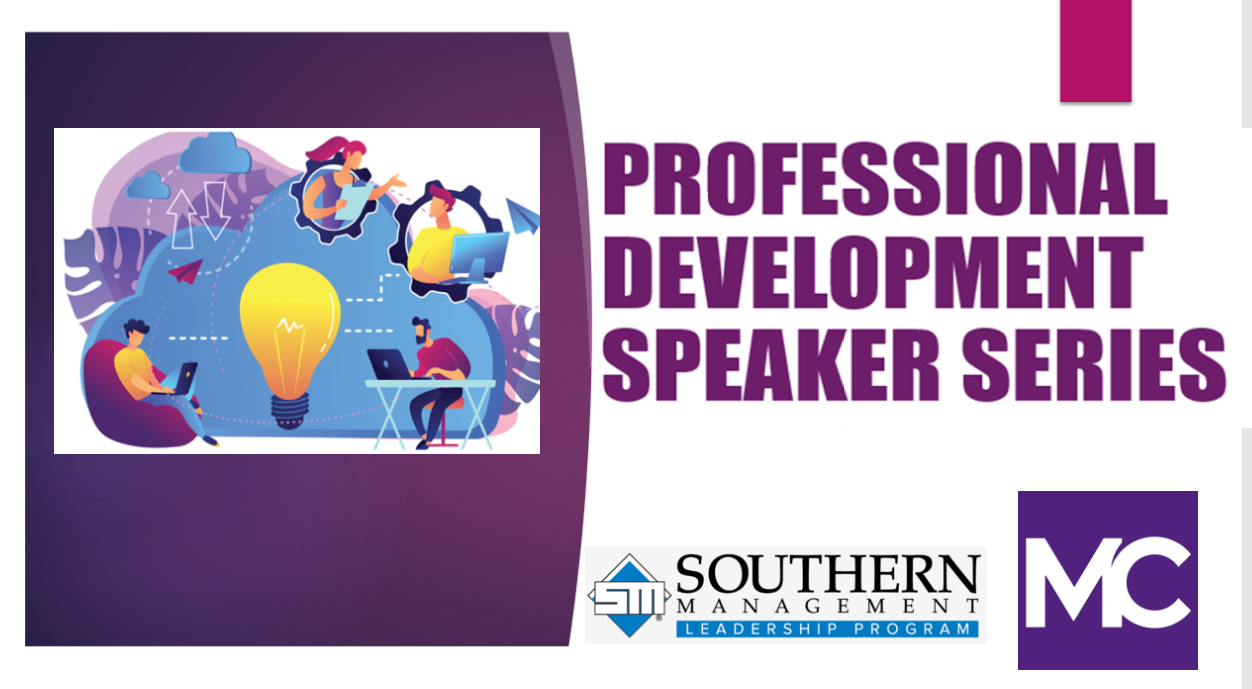 Professional Development Speaker Series