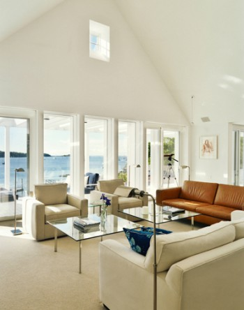 The interior of the Steinglass Residence at Rockport, Maine.