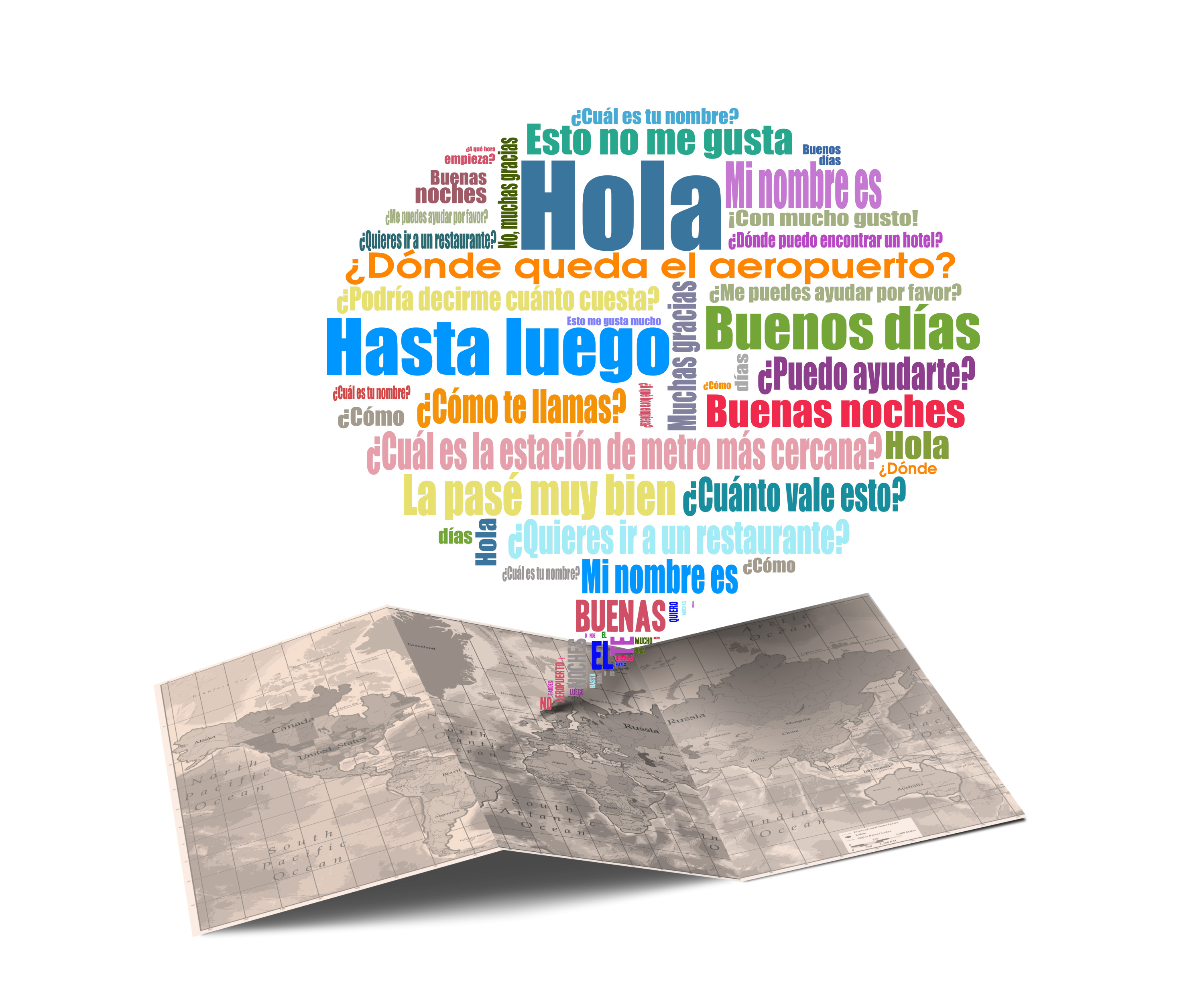 Blurb with spanish words